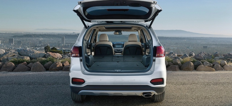 2019 Kia Sorento white rear cargo room