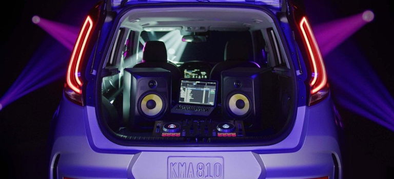 2020 Kia Soul loaded with stereo equipment back view