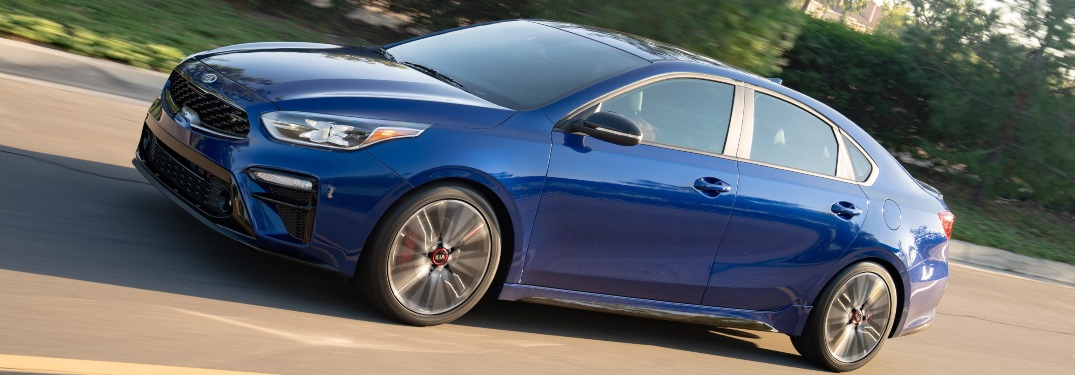 2020 Kia Forte GT blue side view