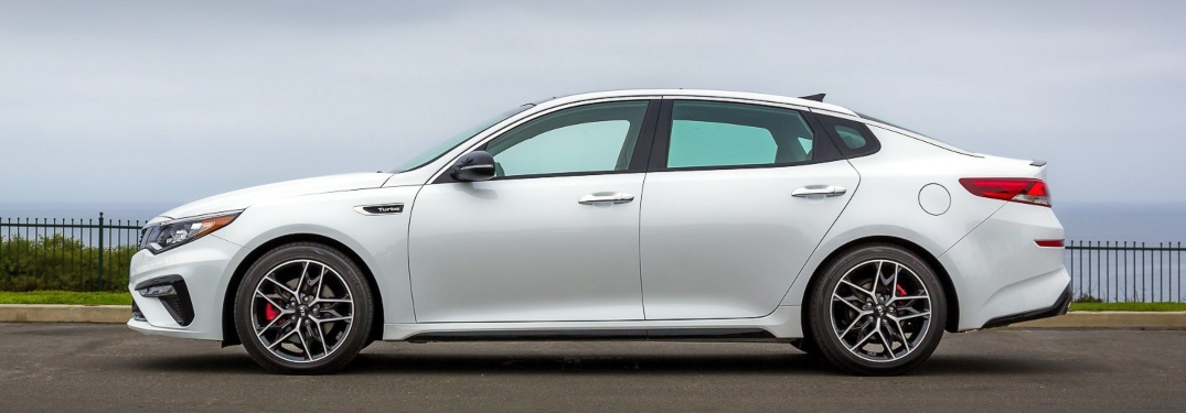 2020 Kia Optima white side view