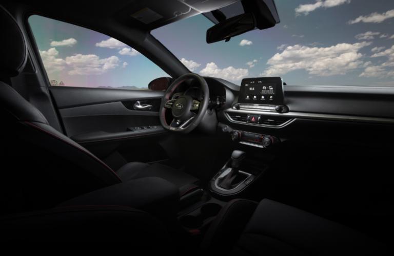 2020 Kia Forte dash and wheel