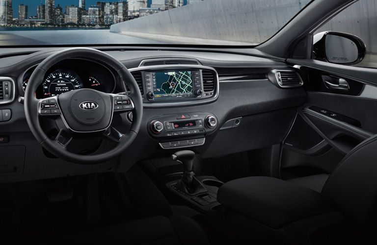 2020 Kia Sorento dash and wheel
