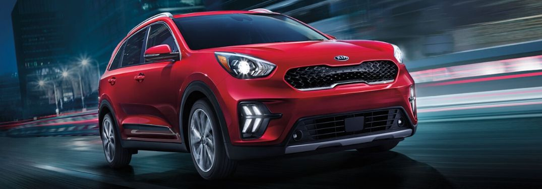 2020 Kia Niro driving on the road