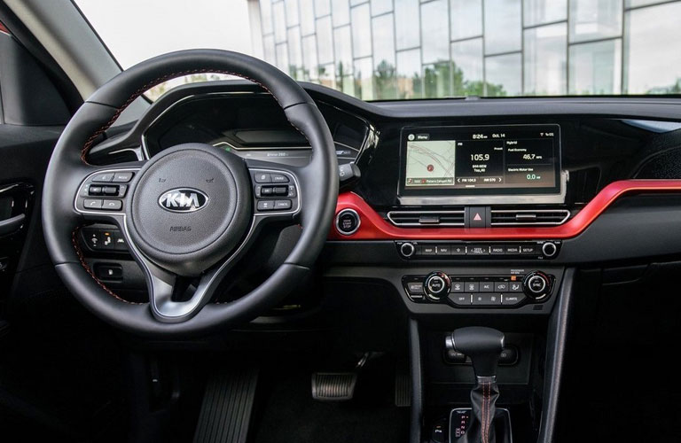 2020 Kia Niro dash and wheel view