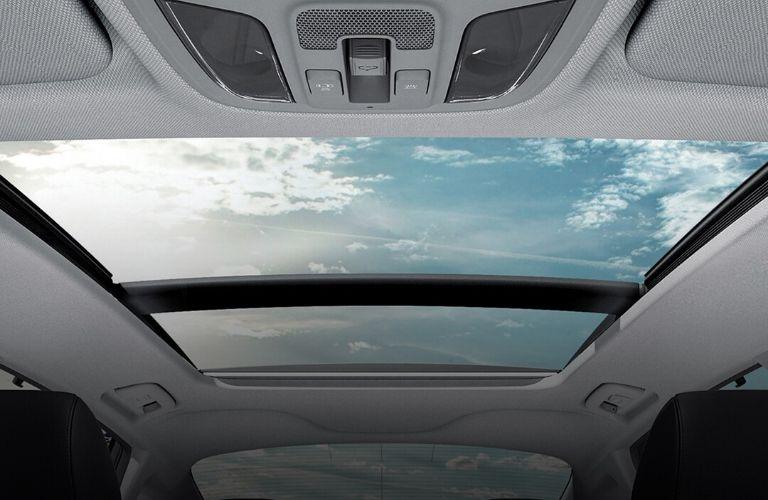 2020 Kia Optima sunroof view interior