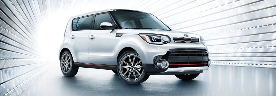 Silver 2018 Kia Soul Exclaim in a metallic tunnel
