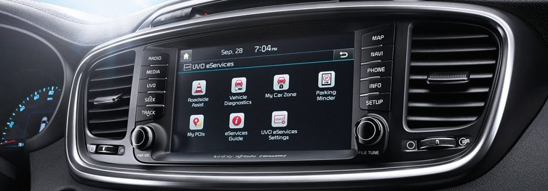 Image of a Kia Dashboard Equipped with UVO eServices