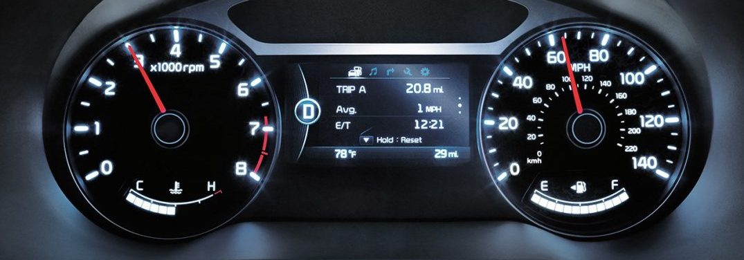 Dashboard cluster in the 2018 Kia Soul