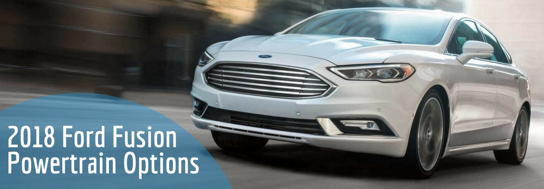 2018 ford fusion front view in white platinum metallic