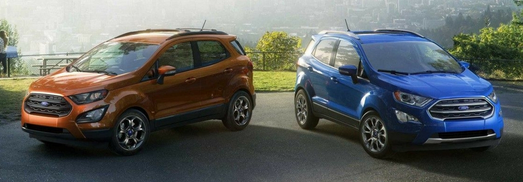 Two 2018 Ford EcoSport models side by side