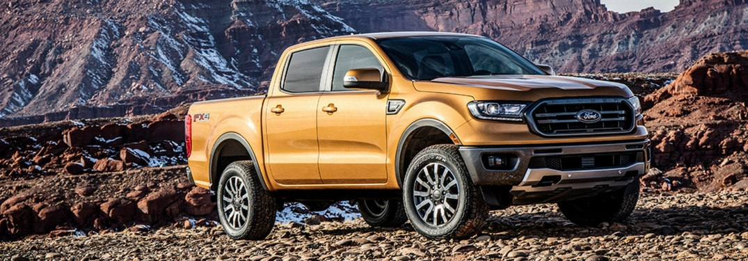2019 ford ranger parked by mountains