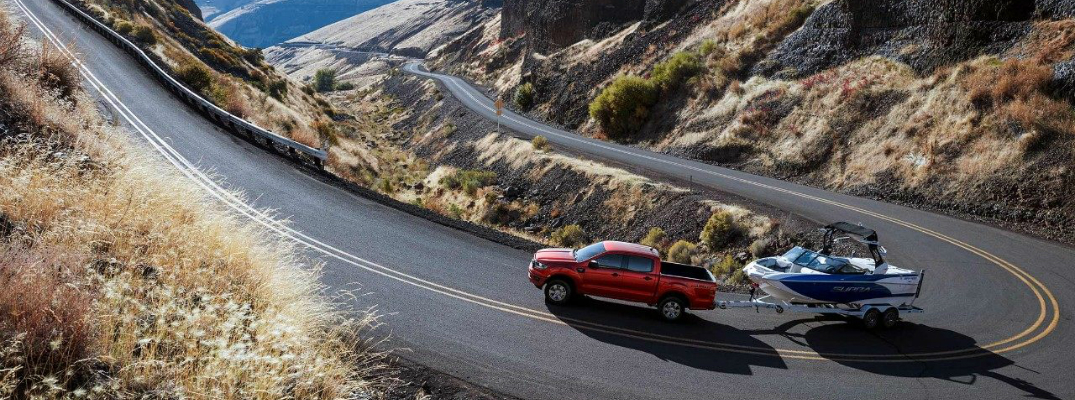 2019 ford ranger towing boat