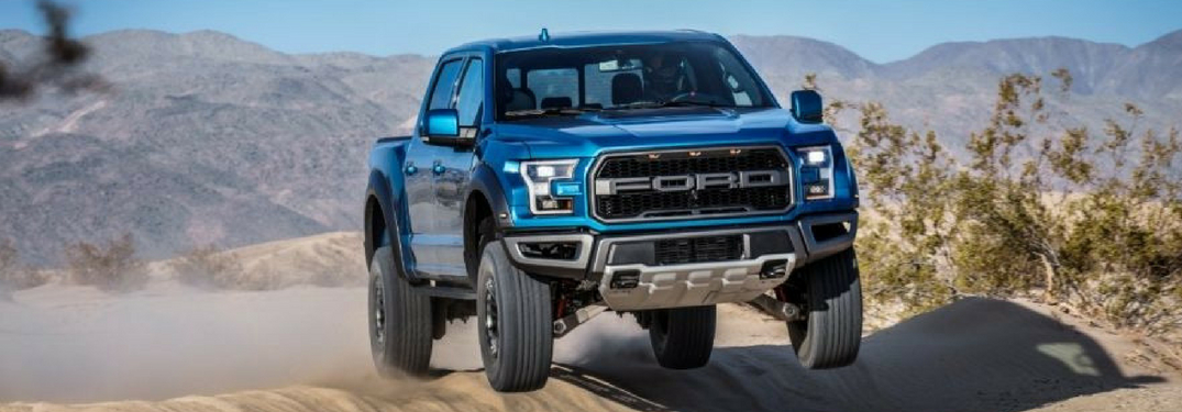 2019 ford f-150 raptor driving off-road
