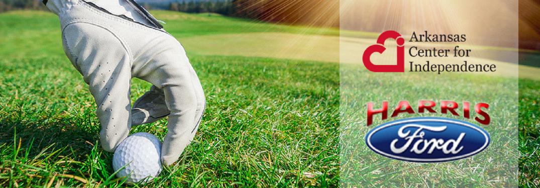 hand placing golf ball on fairway
