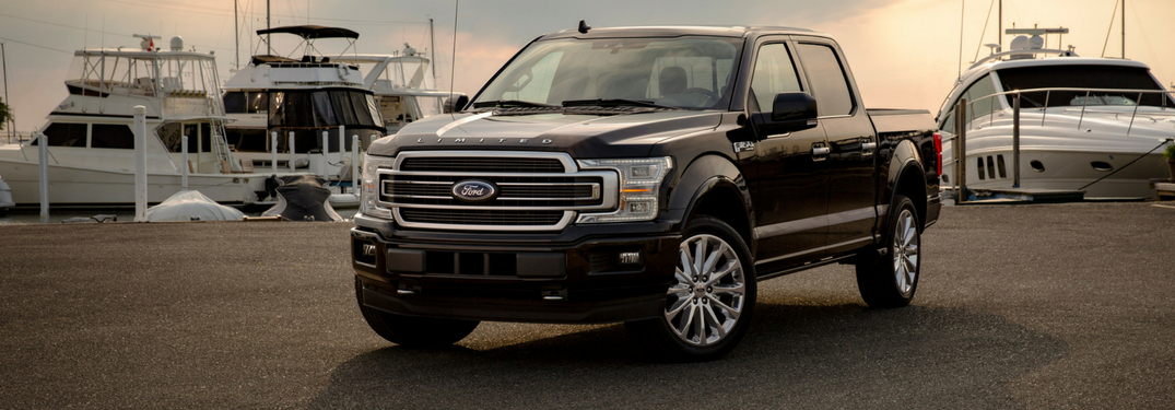 2019 ford f-150 limited model parked by harbor