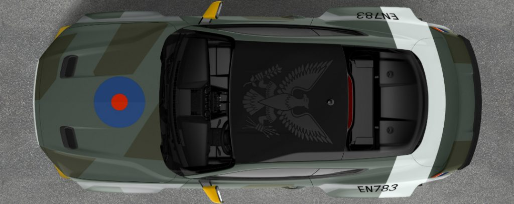 Overhead View Of Ford Eagle Squadron Mustang Gt