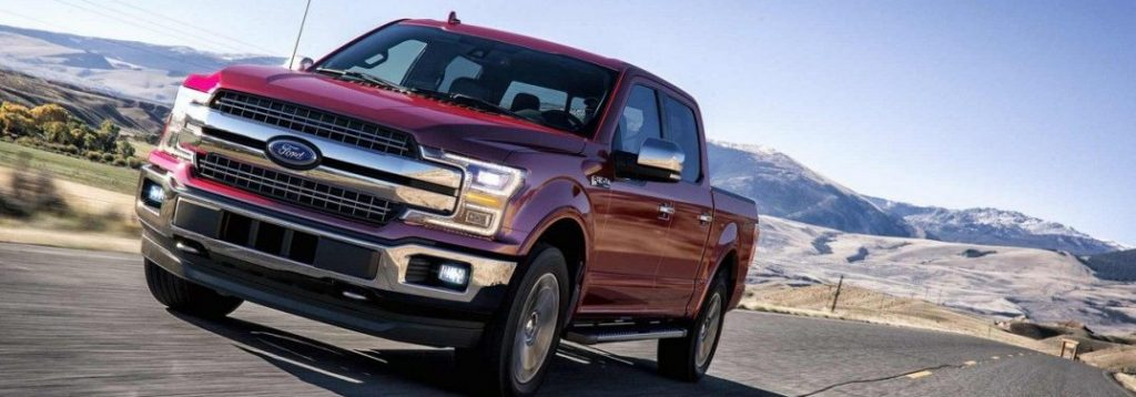 2018 ford f-150 driving on highway