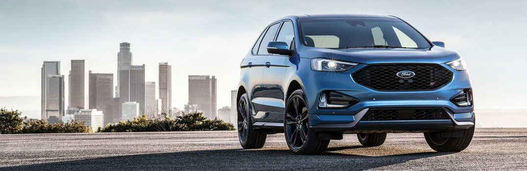 2019 ford edge parked outside of the city