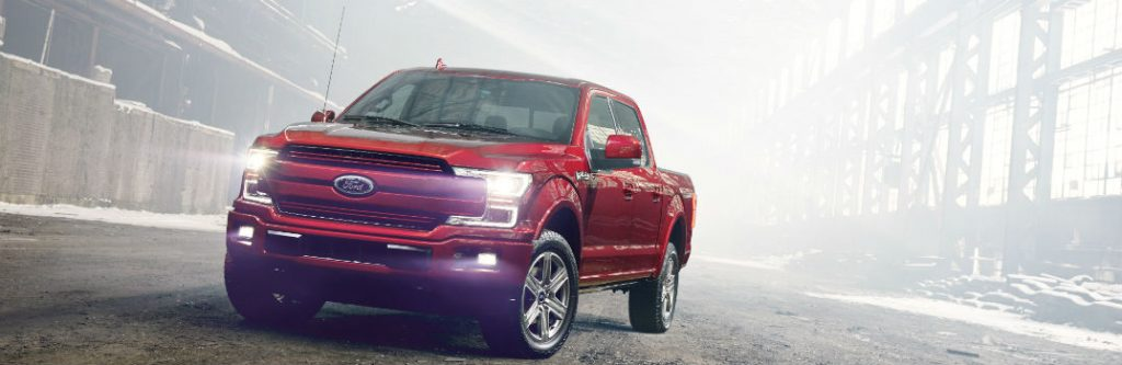 2018 ford f-150 driving on foggy road