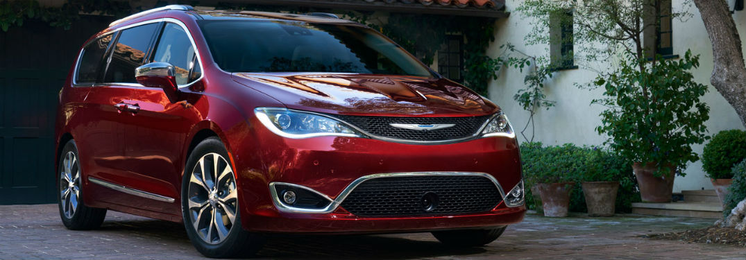 2018 Chrysler Pacifica front exterior view red