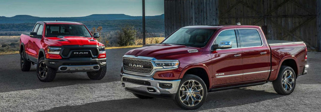 2019 RAM 1500 two models exterior front