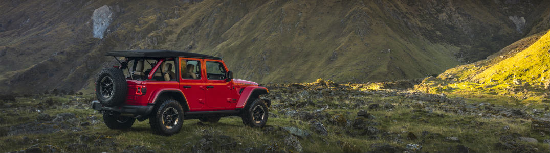 2018 Jeep Wrangler parked on hill