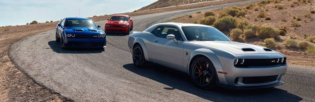 2019 Dodge Challenger 3 driving down highway