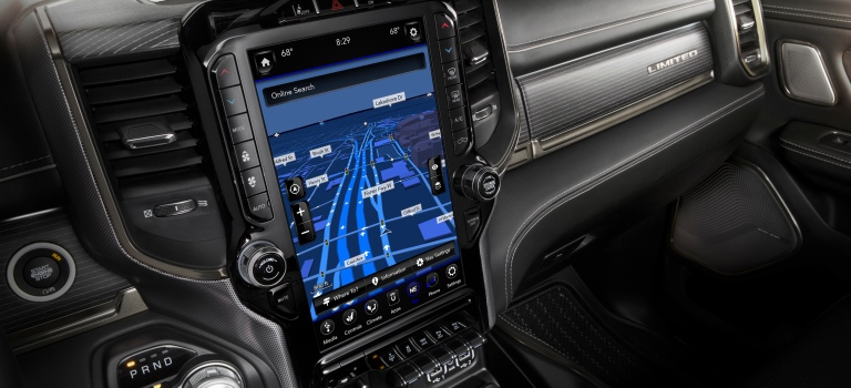 Features of the 2019 RAM 1500 Uconnect screen