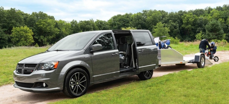 2019 Dodge Grand Caravan with a trailer