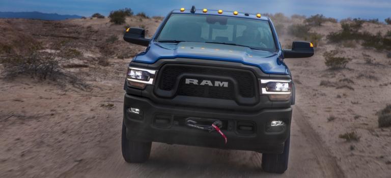 2019 RAM Heavy Duty blue front view