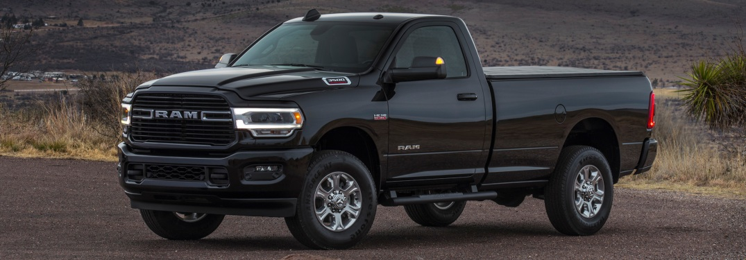 2019 RAM Heavy Duty black side view