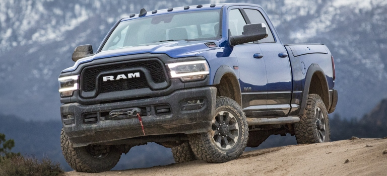 2019 RAM Power Wagon blue front view