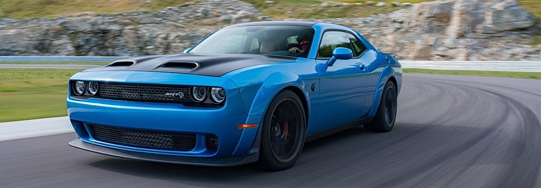 2019 Dodge Challenger blue side front view