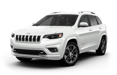 2019 Jeep Cherokee white side view