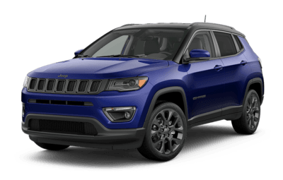 2019 Jeep Compass blue side view