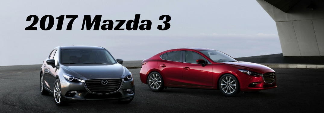 2017 Mazda 3 red and silver full view