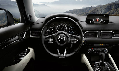 2018 Mazda CX-5 dashboard and steering