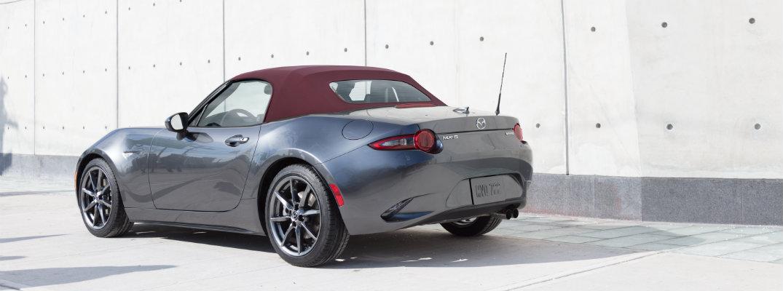 2018 Mazda MX-5 Miata dark cherry soft top