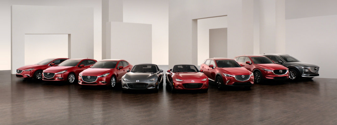 2018 and 2017 Mazda award-winning lineup of car and vehicle models