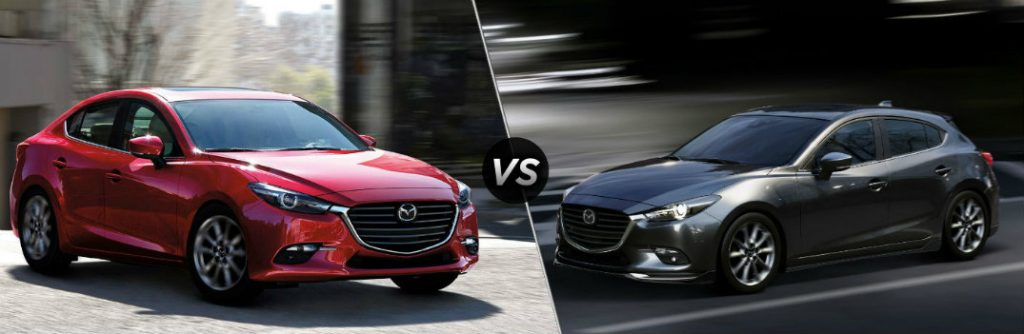 2018 mazda3 sedan vs 2018 mazda3 hatchback. Black Bedroom Furniture Sets. Home Design Ideas