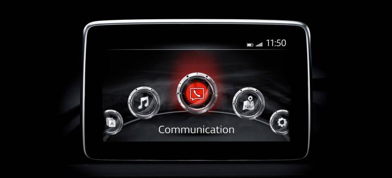 2018 Mazda MX-5 Miata infotainment screen
