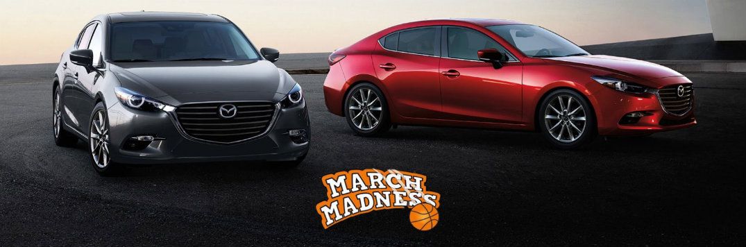Marketplace Mazda March sales banner showing Mazda3 models
