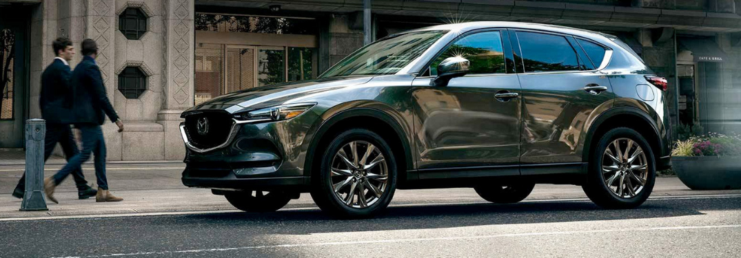2019 Mazda CX-5 parked outside on the road