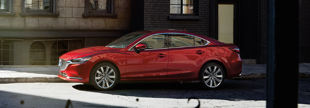 2019 Mazda6 parked outside in shade
