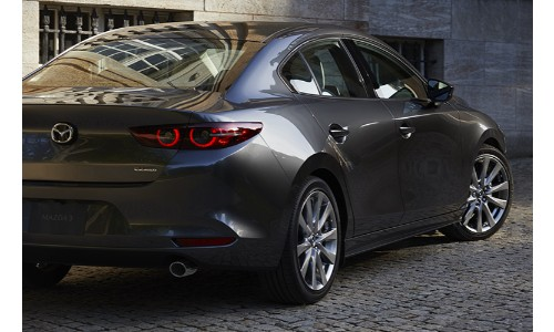 2019 Mazda3 as seen from the rear