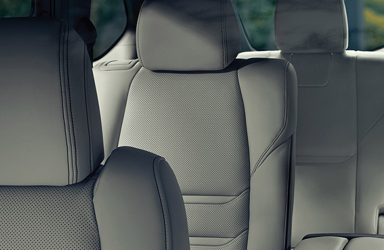 An interior view of the seats inside a 2020 Mazda CX-9.