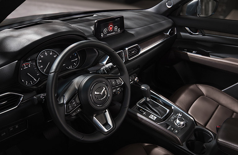 The front interior inside the 2020 Mazda CX-5.